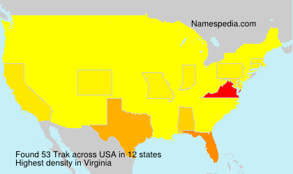 Surname Trak in USA