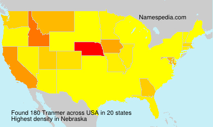 Surname Tranmer in USA
