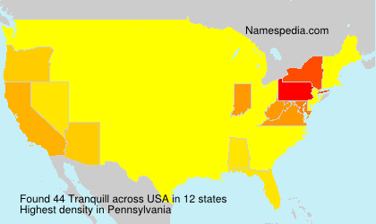 Surname Tranquill in USA
