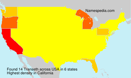 Surname Transeth in USA