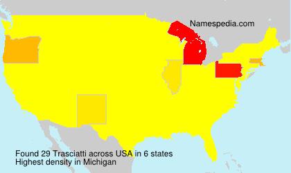 Surname Trasciatti in USA
