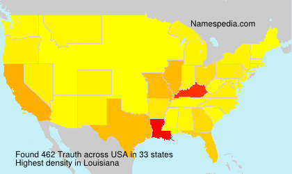 Surname Trauth in USA
