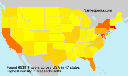 Surname Travers in USA