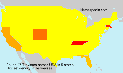 Surname Travierso in USA