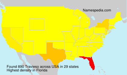 Surname Travieso in USA