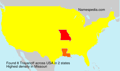 Surname Trayanoff in USA