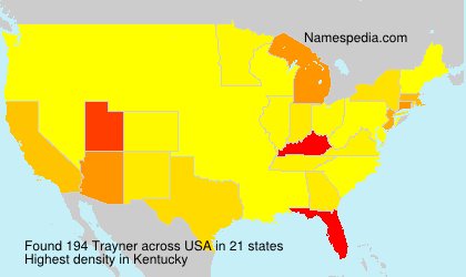 Surname Trayner in USA