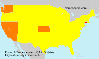 Surname Trebra in USA
