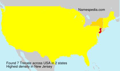 Surname Trecate in USA