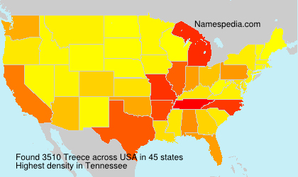 Surname Treece in USA