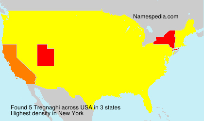 Surname Tregnaghi in USA