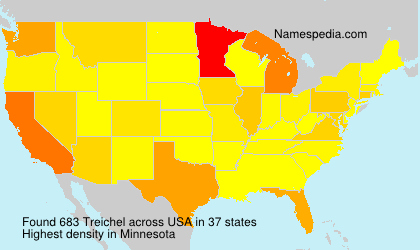 Familiennamen Treichel - USA