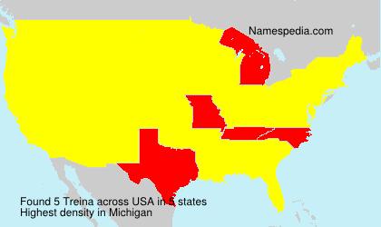 Surname Treina in USA