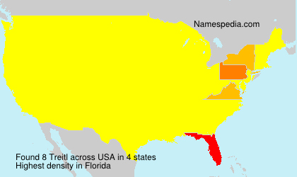 Surname Treitl in USA