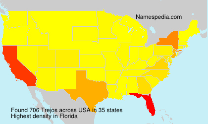 Surname Trejos in USA