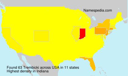 Familiennamen Trembicki - USA