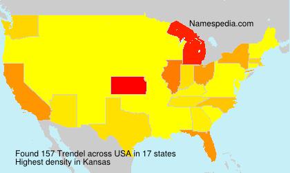 Surname Trendel in USA