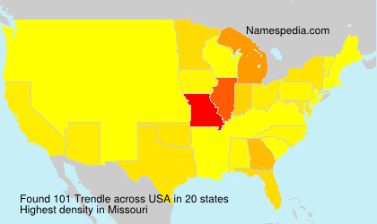 Surname Trendle in USA