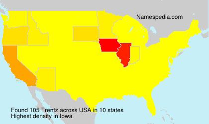 Surname Trentz in USA