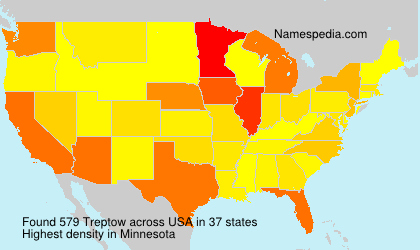Surname Treptow in USA