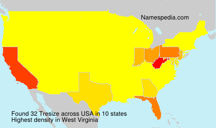 Surname Tresize in USA