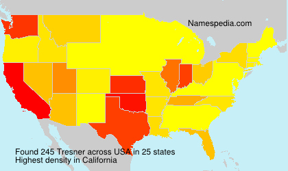 Surname Tresner in USA
