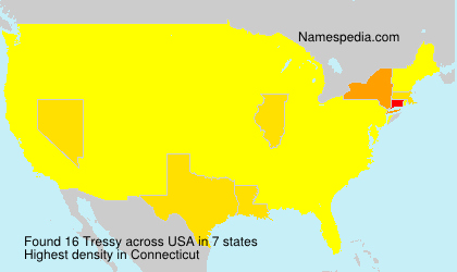 Surname Tressy in USA
