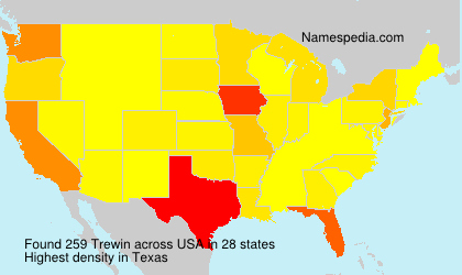 Surname Trewin in USA