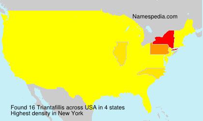 Familiennamen Triantafillis - USA