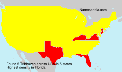 Surname Tribhuvan in USA