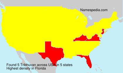 Familiennamen Tribhuvan - USA