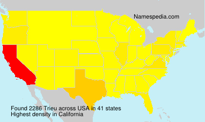Surname Trieu in USA