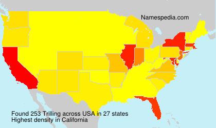Familiennamen Trilling - USA