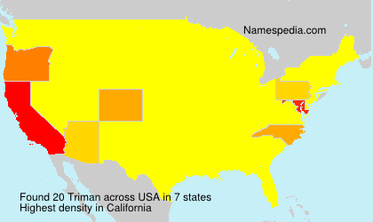 Surname Triman in USA