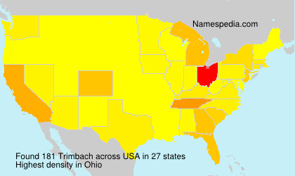 Surname Trimbach in USA