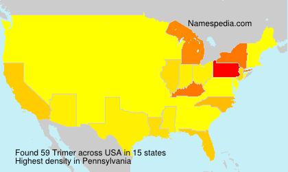 Surname Trimer in USA
