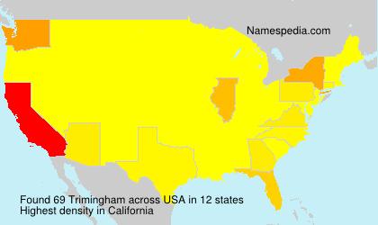 Surname Trimingham in USA
