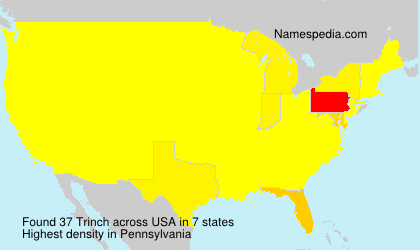 Surname Trinch in USA