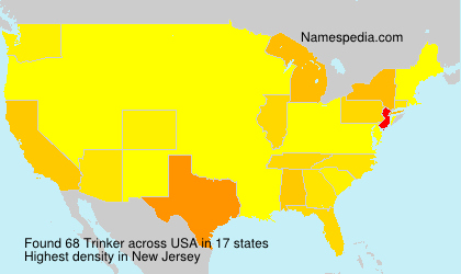 Surname Trinker in USA