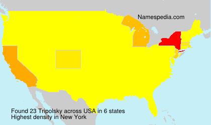 Familiennamen Tripolsky - USA
