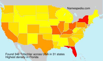 Familiennamen Tritschler - USA