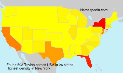 Surname Trivino in USA