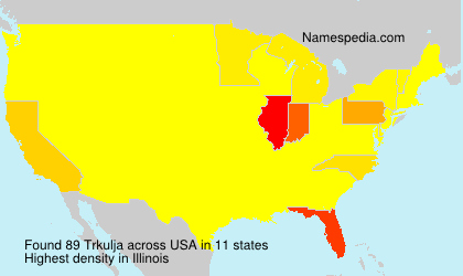 Surname Trkulja in USA