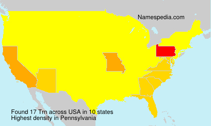 Surname Trn in USA