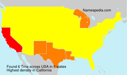 Surname Trna in USA