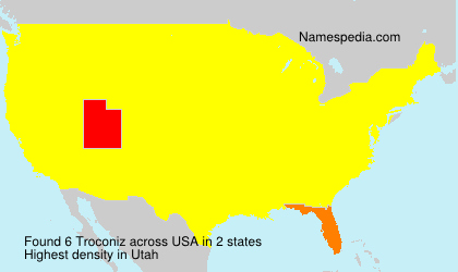 Surname Troconiz in USA