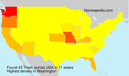 Surname Troeh in USA