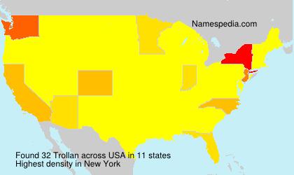 Surname Trollan in USA