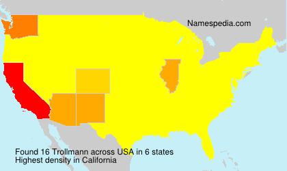 Surname Trollmann in USA