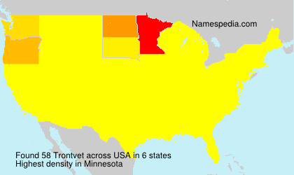 Surname Trontvet in USA